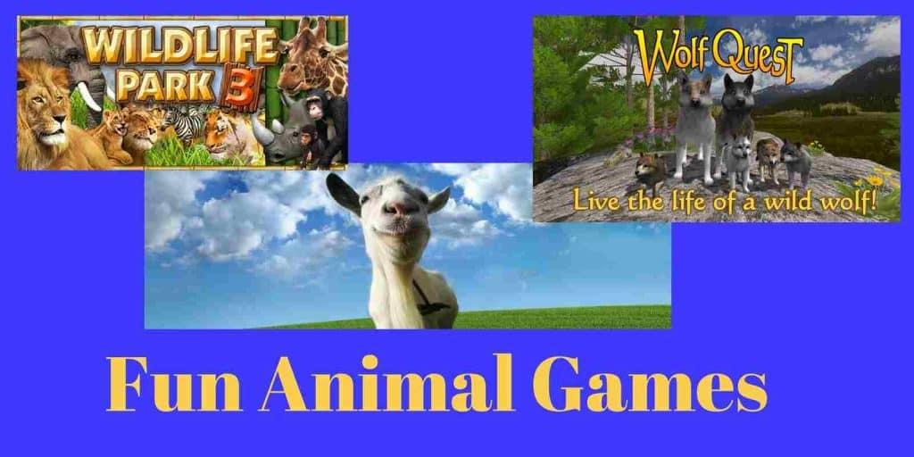 Fun animal games online