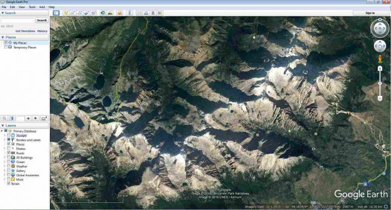 Google Earth Interface