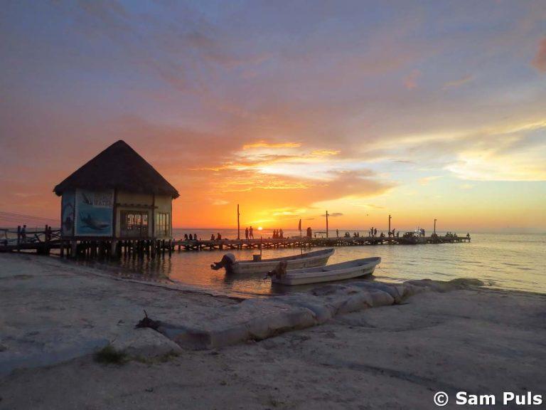 sunset at isla holbox