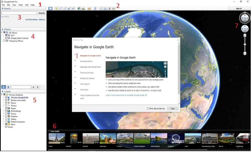 Google Earth Pro welcome screen