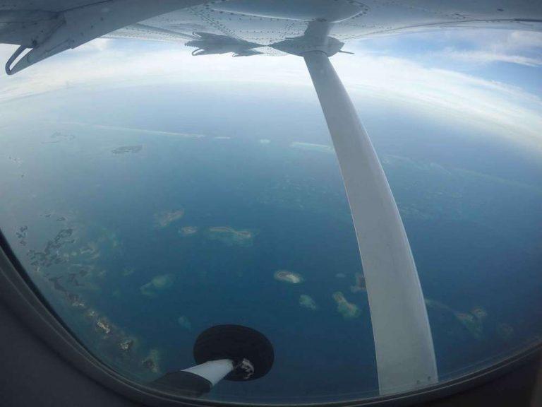 Belize Travel-flight over the ocean